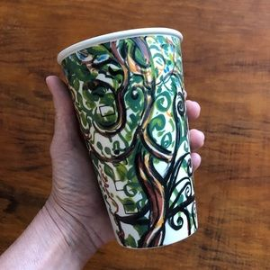 Anthropologie Gwyneth Leech Ceramic Sketch Cup